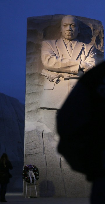 Image: Keith Andrews visits the Martin Luther King Jr. memorial on Jan. 16 in Washington, D.C.