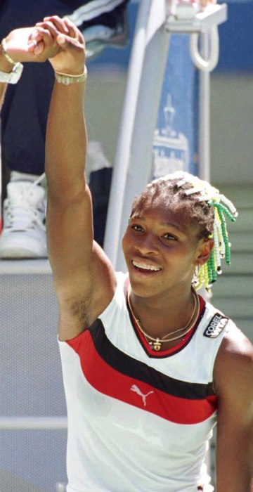 Image: Venus and Serena Williams at the Australian Open in 1998