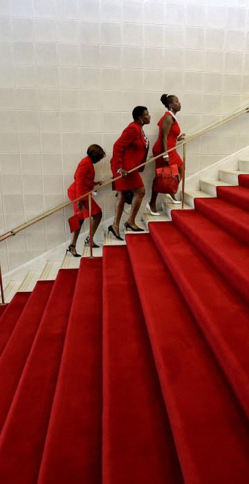 Image: Members of Delta Sigma Theta Sorority visit the North Carolina General Assembly
