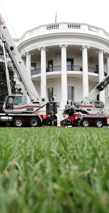 Image: Parts Of The West Wing Within White House Undergo Renovations