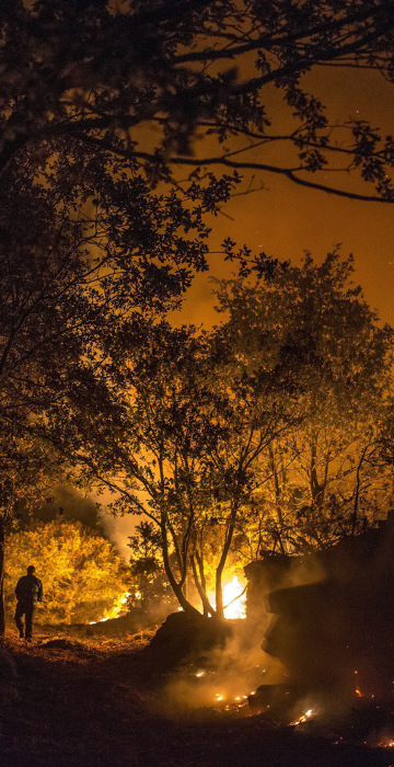 Image: Forest fires in northwestern Spain