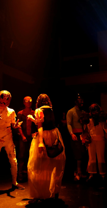 Image: Participants in costumes dance at a club during a Halloween event in Kawasaki, south of Tokyo on Oct. 29.