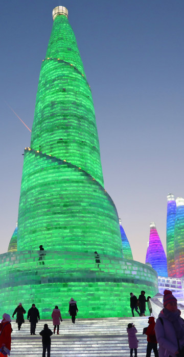Image: Preparation for the 34th Harbin International Ice and Snow Festival