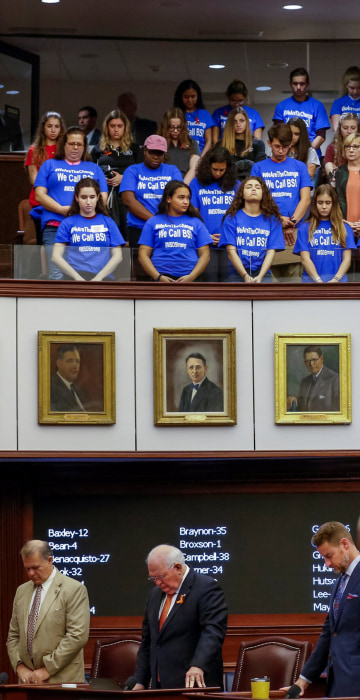 Image: Students from Marjory Stoneman Douglas High School meet with Florida state legislators in Tallahassee
