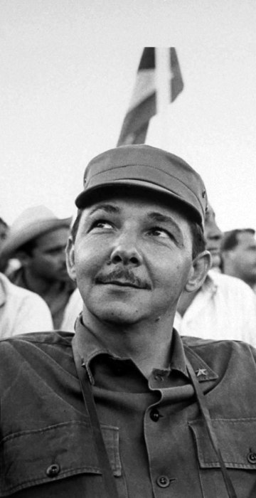 """Raul Castro and Argentina-born revolutionary Ernesto """"Che"""" Guevara pictured during a July 26 celebration commemorating the revolution."""