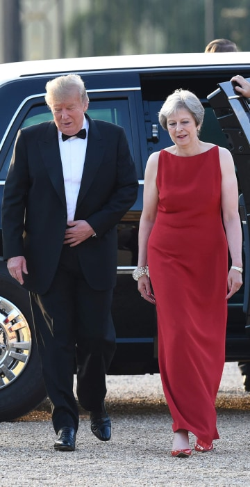 Image: Donald Trump, Theresa May