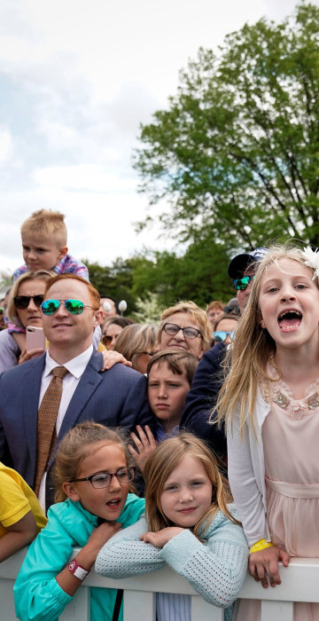 Image: U.S. President Donald Trump attends the 2019 White House Easter Egg Roll