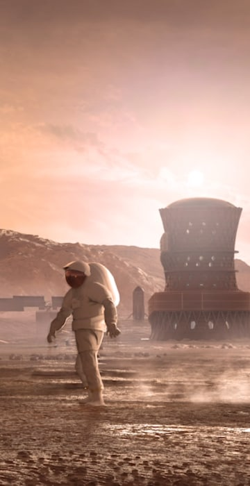 Visions of the Future: Life on Mars and a rural skyscraper