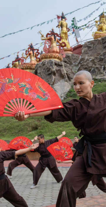The Druk Amitabha Mountain Monastery in Kathmandu is home to hundreds of young nuns rewriting their place in the Buddhist hierarchy, while using kung fu to spread a message of human rights and gender equality in villages across the Himalayas.