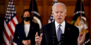 Image: President Joe Biden delivers remarks in Atlant