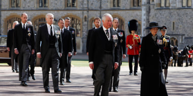 Image: The Ceremonial Procession  during the funeral of Prince Philip, Duke of Edinburgh at Windsor Castle