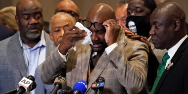 Image: Philonise FLoyd reacts to Chauvin trial verdict