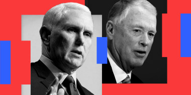 Photo illustration: Former Vice Presidents Mike Pence and Dan Quayle.