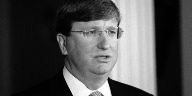 Image: Mississippi Gov. Tate Reeves at the Governor's Mansion in Jackson on June 30, 2020.