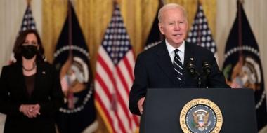 Image: President Biden Speaks In The White East Room Before Departing For Europe