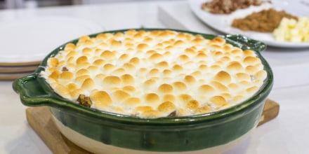 Katie Lee's recipe for sweet potato casserole and sweet potato pancakes
