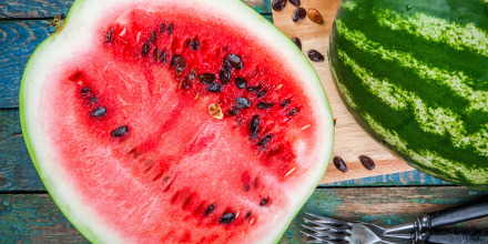 Image: sliced fresh juicy watermelon