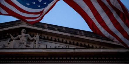 Image: American Flag, Justice Deptarment