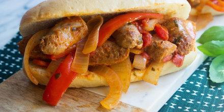 Giada De Laurentiis' Italian Sausage, Peppers And Onions Sandwich
