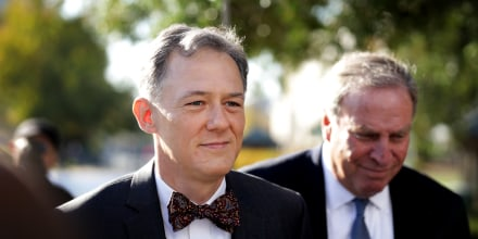 Image: Deputy Assistant Secretary of State for European and Eurasian Affairs George Kent arrives for a hearing at the Capitol on Oct. 15, 2019.