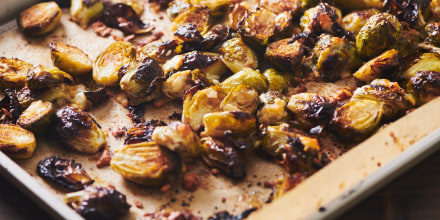 These roasted Brussels sprouts can be served hot or cold.