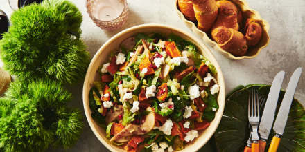 Green Salad with Roasted Butternut Squash, Pears, and Goat Cheese