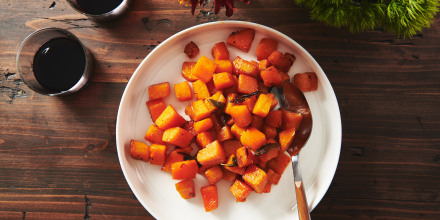 Roasted butternut squash with maple syrup recipe