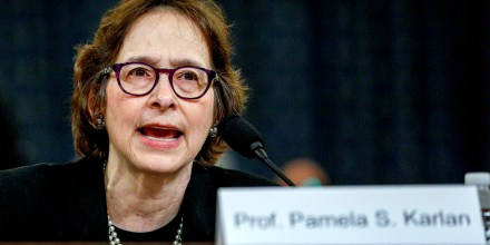 Image: Pamela Karlan, professor at Stanford Law School, testifies at a House Judiciary Committee hearing on the impeachment inquiry on Dec. 4, 2019.