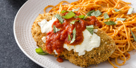 Crispy chicken parm is an ideal candidate for the air fryer — you just need to make a few modifications.