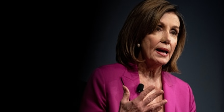 Image: U.S. House Speaker Nancy Pelosi (D-CA) speaks at the Wall Street Journal CEO Conference