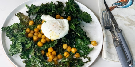 Kale Chips and Roasted Nutty Chickpeas