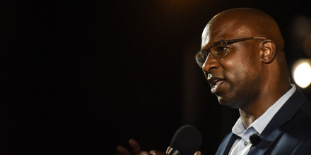 Image: NY Democratic House Candidate Jamaal Bowman Holds Election Night Event