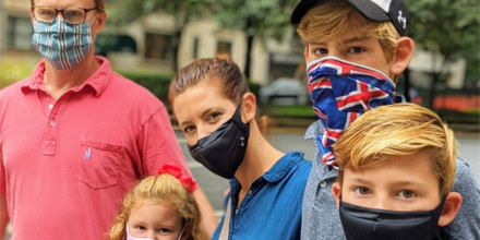 Stephanie Ruhle with her family.