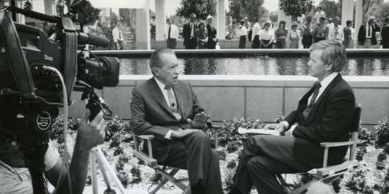 President Richard Nixon is interviewed by NBC's Tom Brokaw