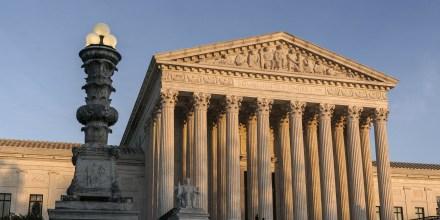 The Supreme Court at sundown in Washington on Nov. 6, 2020.