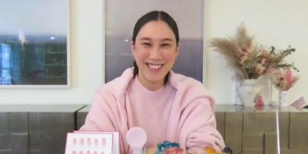 Eva Chen shares her beauty tips on broadcast