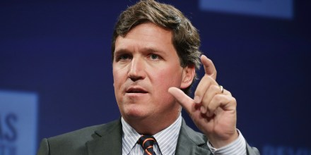 Image: Fox News host Tucker Carlson discusses 'Populism and the Right' during the National Review Institute's Ideas Summit in Washington