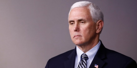 Image: Vice President Mike Pence at the White House on April 4, 2020.