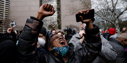 Image: Reaction to the verdict in the trial of former Minneapolis police officer Derek Chauvin