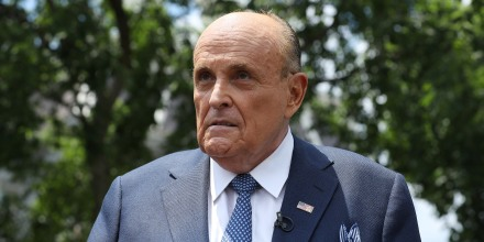 Rudy Giuliani Speaks To Media Members At The White House