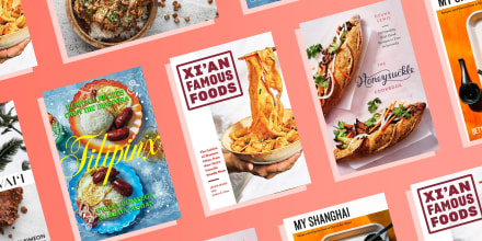 Illustration of three New cookbooks from AAPI chefs