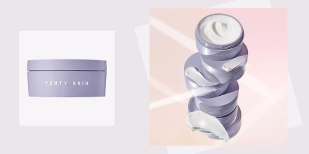 Illustration of the new Fenty cream. Fenty Skin by Rihanna Butta Drop Whipped Oil Body Cream is here. Learn about the first body care product and shop Fenty Beauty and Fenty Skin products.