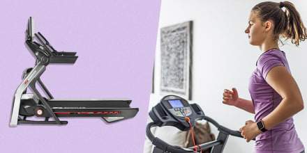 Illustration of Woman running on her treadmill at home and the Bowflex treadmill. See the best treadmill alternatives for Peloton treadmills such as NordicTrack treadmills, Bowflex treadmills, Nautilus treadmills and other options for your home.