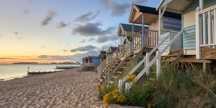 Traditional Beach Huts on the North Norfolk Coast at Wells Next the Sea