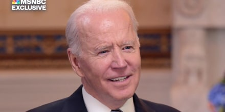 Image: President Joe Biden speaks with Lawrence O'Donnell.
