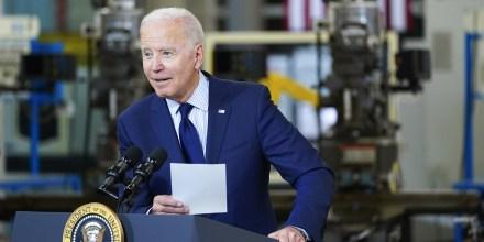 President Joe Biden speaks in Cleveland on May 27, 2021.