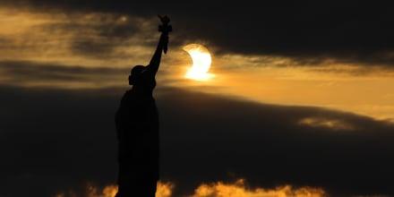 Rare Sunrise Eclipse Entrances Northeast States
