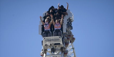 Six Flags Magic Mountain Amusement Park Reopens