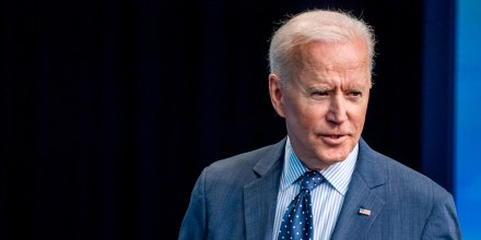 resident Joe Biden answer questions from reporters at the Eisenhower Executive Office Building on June 2, 2021.
