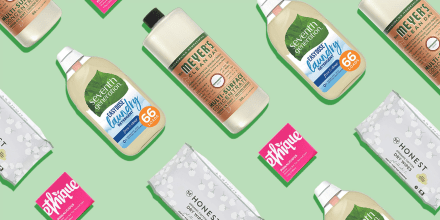 Illustration of different cleaning products like Seventh Generation and Meyers. Looking for eco-friendly products on Amazon? Learn about Amazon's Climate Pledge Friendly label and shop sustainable products from Burt's Bees, Dove and more.